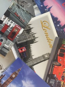 Post Cards from London mostly talking about Big Ben!