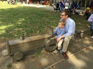 Playing Train at Coram Fields