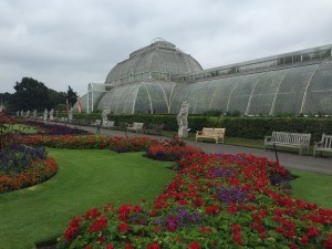 Kew Gardens in the Rain.