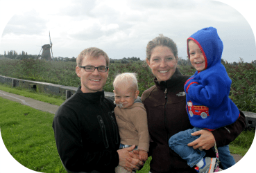 Family Photo with Kids of Kinderdijk