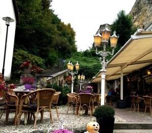 Valkenburg Cafe at base of the castle