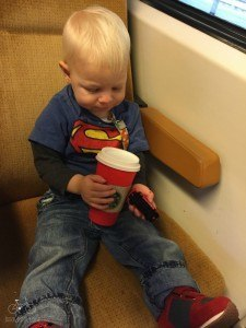 Starbucks cups make great toys too.