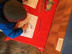 Coloring a Letter for Santa in Mail Tent