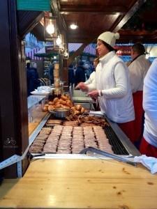 Food at Nuremberg Christmas Market