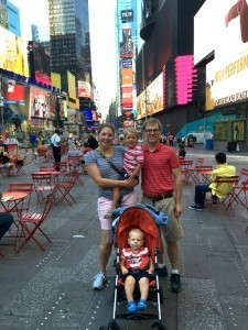 Times Square Family Photo