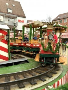 Train in Nuremberg Christmas Market