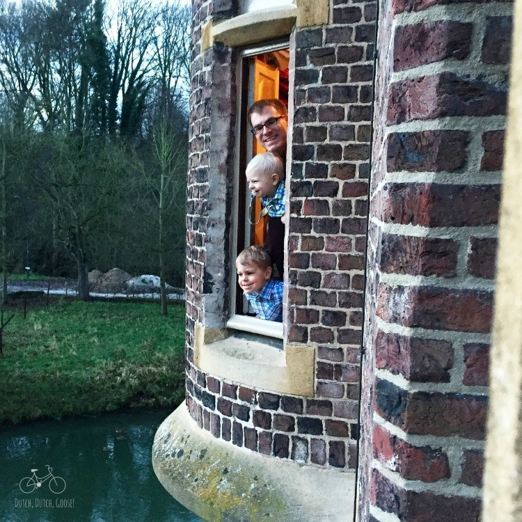 Kasteel Terworm Boys View the Moat