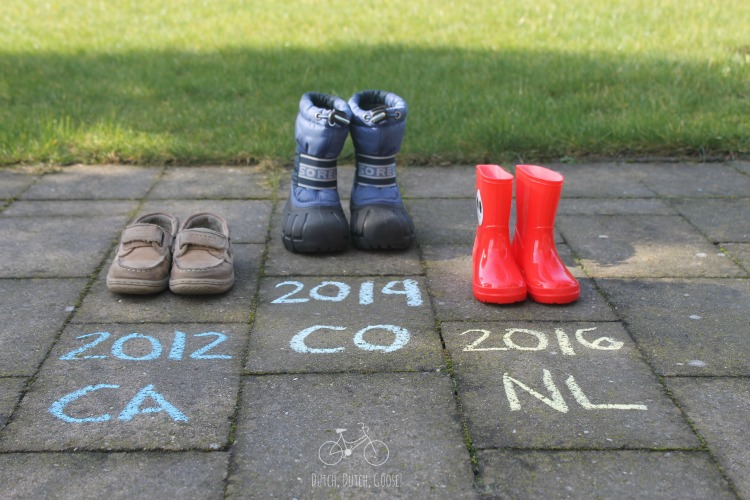 Shoe baby announcement