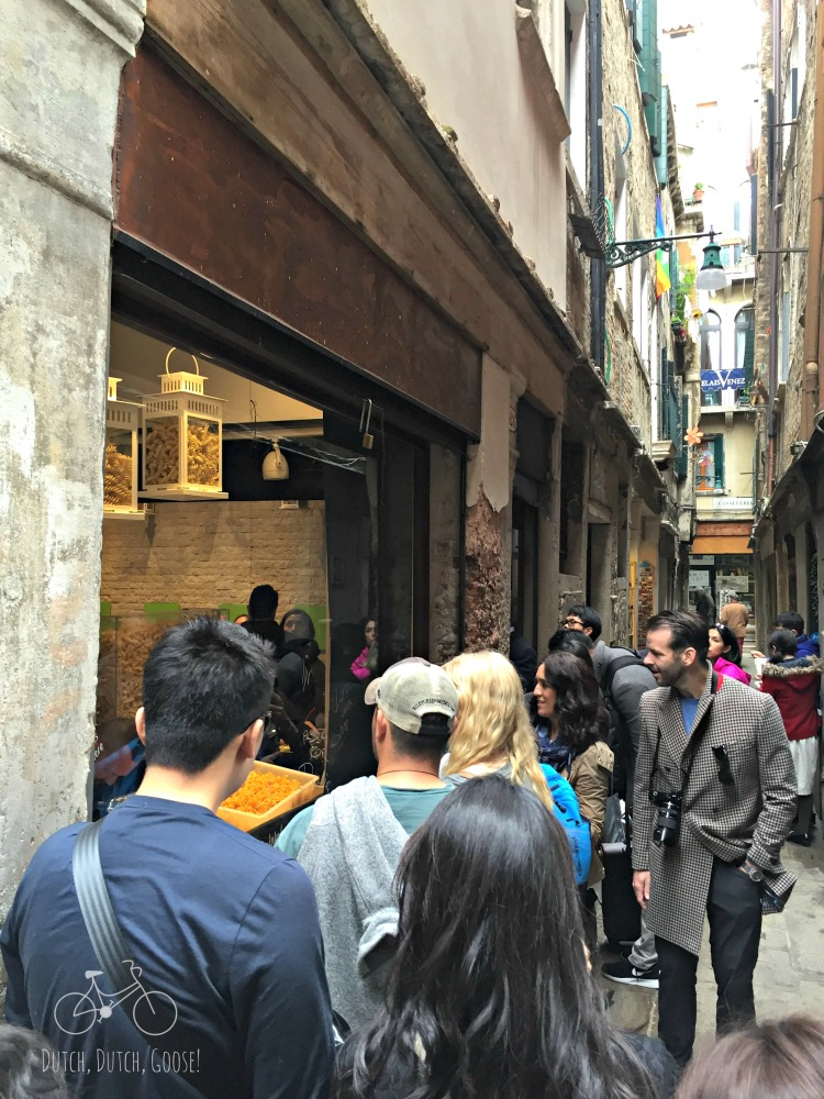 Line for Food in Venice