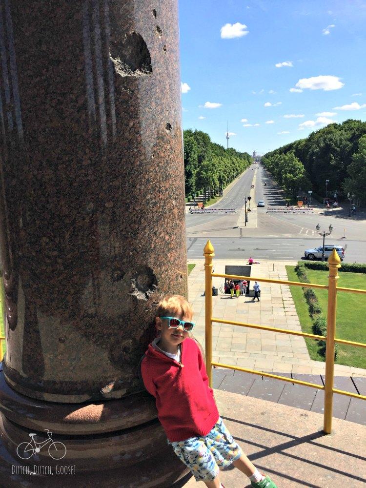 Berlin Bullet Hole Monument