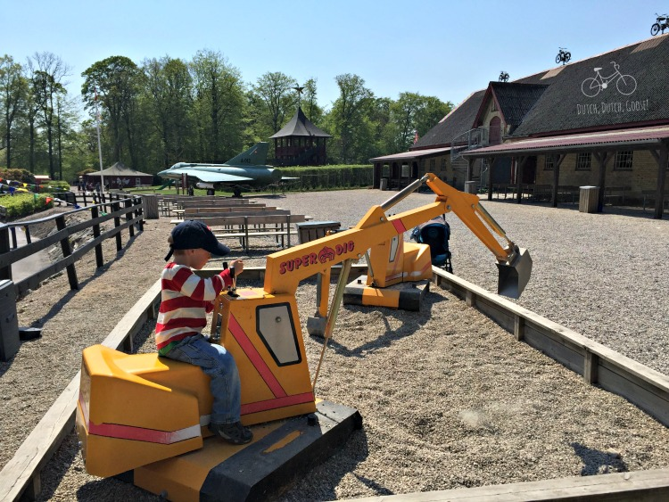 Favorite Digging Toy at Egeskov Castle