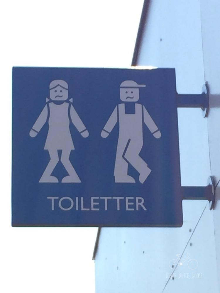 Legoland Toilet Sign