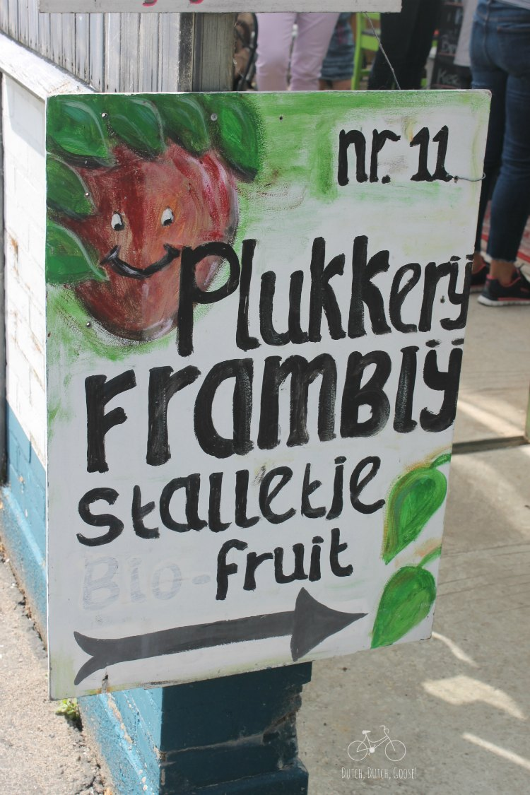 Raspberry Picking Sign Netherlands