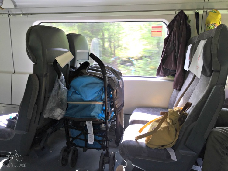 Stroller Parking on the Train
