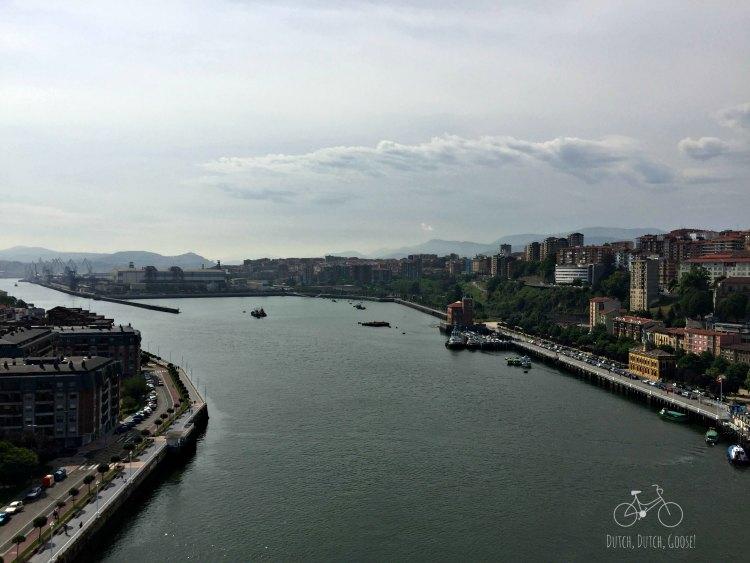 Bilbao Bridge View Toward City