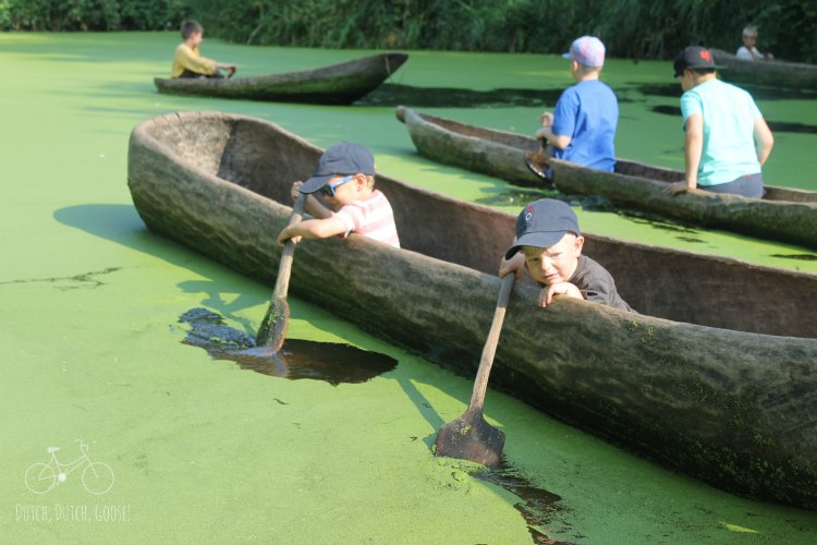 Boys in Canoe
