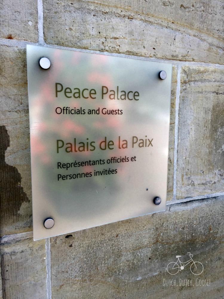 Peace Palace Sign